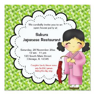 Grande inauguração japonesa convites personalizados