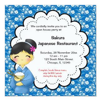 Grande inauguração japonesa convites