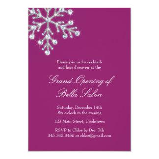 Grande inauguração magenta o floco de neve de convites personalizado