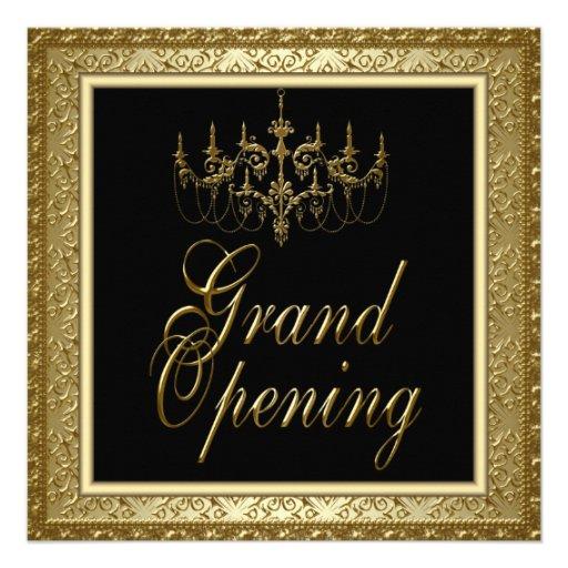 Grande inauguração preta do negócio do candelabro  convite personalizados