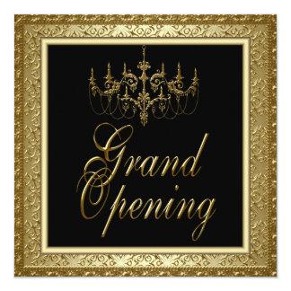 Grande inauguração preta do negócio do candelabro convite quadrado 13.35 x 13.35cm
