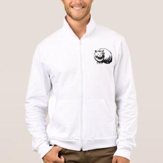 Grande jaqueta branca dos homens do gato jaquetas estampadas