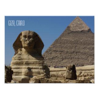Grande lembrança de Giza o Cairo Egipto da estátua Impressão De Foto