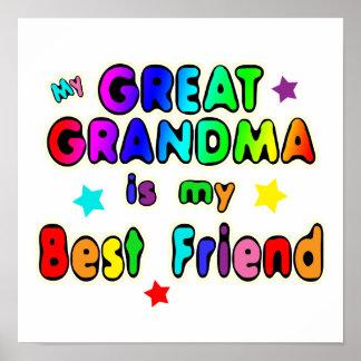 Grande melhor amigo da avó pôster