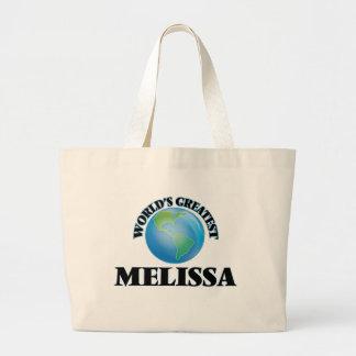 Grande Melissa do mundo Sacola Tote Jumbo