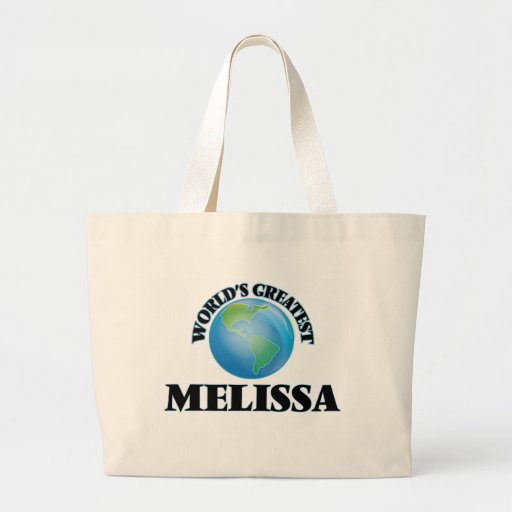 Grande Melissa do mundo Bolsa De Lona