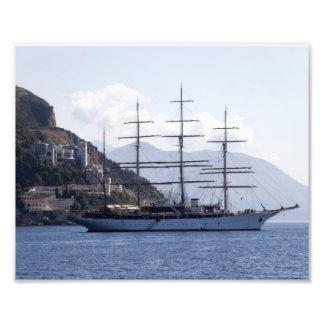 Grande navio de pirata impressão fotográfica
