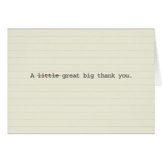 Grande obrigado grande você cartões