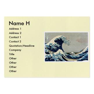 Grande onda de Katsushika Hokusai fora de Kanagawa Modelos Cartões De Visitas
