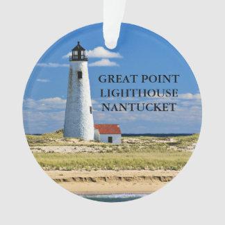 Grande ornamento das MÃES de Nantucket do farol do