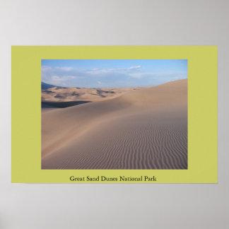 Grande parque nacional de dunas de areia poster