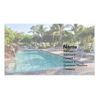 grande piscina do inground cartão de visita
