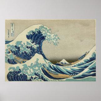Grande poster da onda pôster