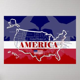 Grande poster dos Estados Unidos da América; algum
