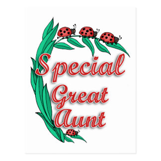 Grande presente especial da tia dia das mães cartão postal