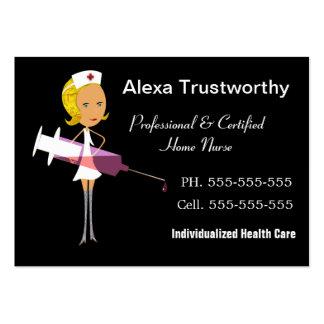 Grande profissional da enfermeira privada cartão de visita grande