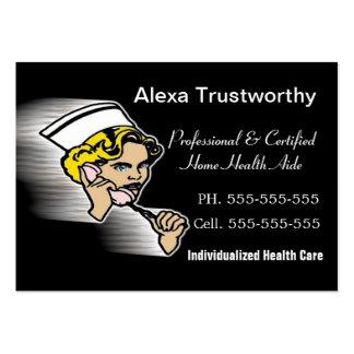 Grande profissional do cuidador cartoes de visitas