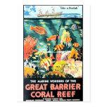 Grande recife de corais da barreira cartoes postais