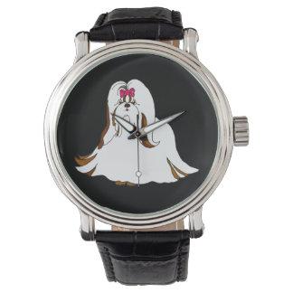 Grande relógio de Shih Tzu Sondra