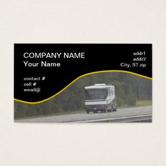 grande rv que viaja em de um estado a outro cartão de visitas