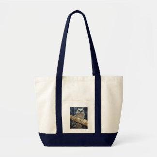 Grande sacola da coruja Horned Bolsas