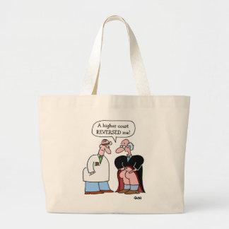 Grande sacola do advogado engraçado dos desenhos sacola tote jumbo