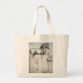 Grande sacola para o amante do cavalo bolsa para compras