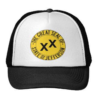 Grande selo do chapéu do camionista de Jefferson Boné