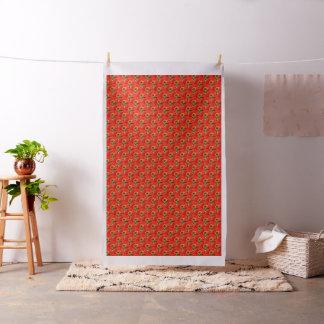 Grande tecido de algodão floral vermelho