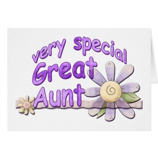 Grande tia muito especial Flor Cartão