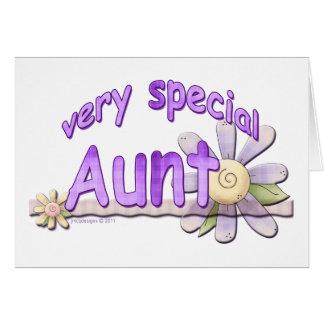 Grande tia muito especial Flor Cartão Comemorativo