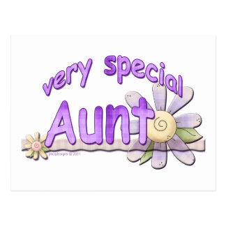 Grande tia muito especial Flor Cartão Postal