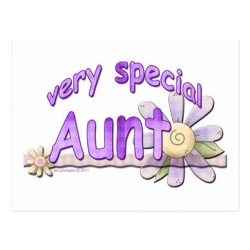 Grande tia muito especial Flor Cartao Postal