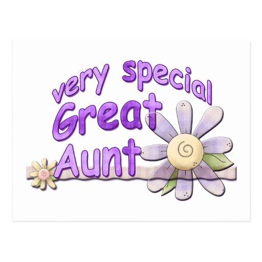 Grande tia muito especial Flor Cartões Postais