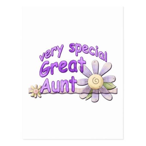 Grande tia muito especial Flor Cartoes Postais