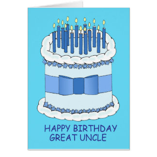 Grande tio feliz aniversario cartão comemorativo