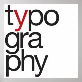 Grande tipografia pôster