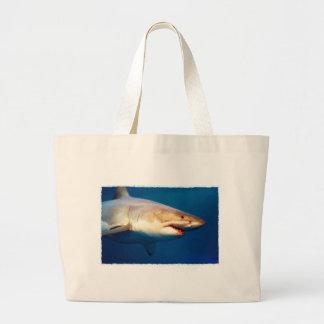 Grande tubarão branco sacola tote jumbo