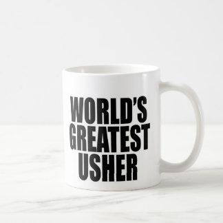 Grande Usher do mundo Caneca De Café