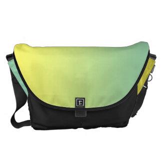 Grande verde e amarelo bolsa mensageiro