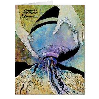Grande zodíaco do Aquário Cartão Comemorativo Grande
