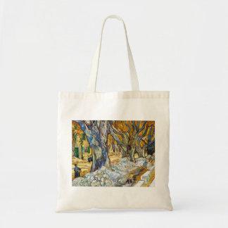Grandes árvores planas por Vincent van Gogh Sacola Tote Budget