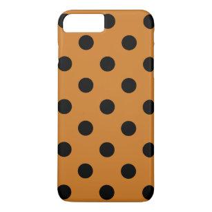 Capa iPhone 8 Plus 7 Plus Grandes bolinhas - preto no ocre be3a6bece4e