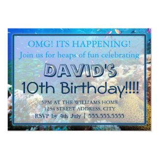 Grandes convites do aniversário do recife de coral