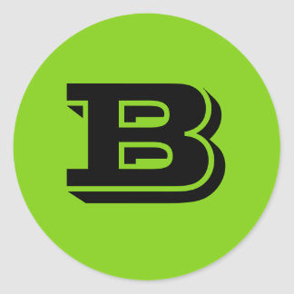 Grandes etiquetas redondas principais da letra B Adesivos Redondos