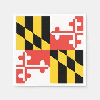 Grandes guardanapo da bandeira de Maryland