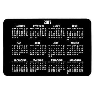 Grandes ímãs flexíveis do calendário 2017 anuais