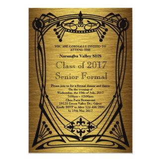 Grandes mais velho do baile de formatura de Gatsby Convite 12.7 X 17.78cm