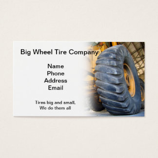 Grandes reparo e serviço industriais do pneu cartão de visitas