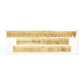 Grandes rolos ORIGINAIS do Mar Morto do rolo de Is Impressão Em Tela